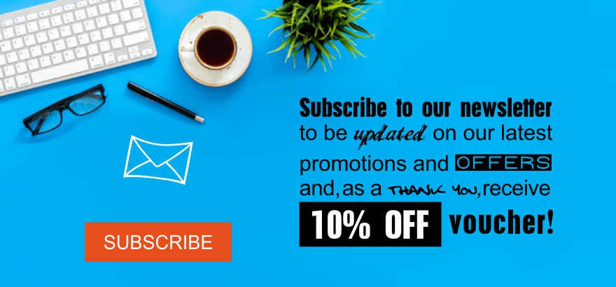 10% OFF for newsletter subscribtion