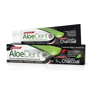 AloeDent Tripple Action Charcoal Toothpaste 100ml - image