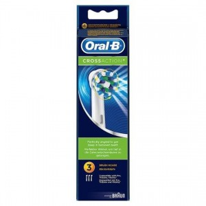 Braun Oral-B Cross Action Replacement Heads 3's - image