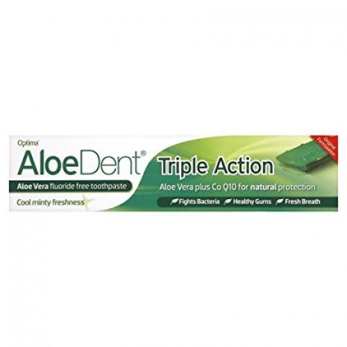 Aloe Dent Triple Action Fluoride Free Toothpaste 100ml image