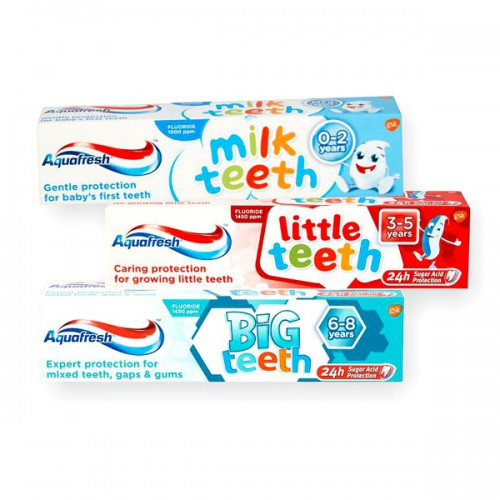 Aquafresh Milk, Little & Big Teeth Toothpaste main product image
