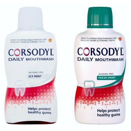 Corsodyl Daily Rinse Alcohol Free 500ml Mouthwash - photo