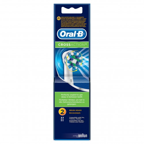 Braun Oral-B Cross Action Replacement Heads 2's image